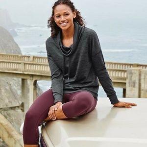{Athleta} Heather Gray Blissful Cowl Sweater